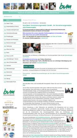 Vorschau der mobilen Webseite www.bvm-versicherungsmakler.de, Bvm Bartz Versicherungsmakler GmbH