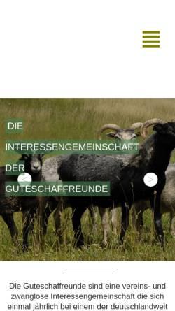 Vorschau der mobilen Webseite www.guteschaf-ig.de, Interessengemeinschaft der Guteschaffreunde