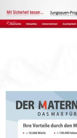Vorschau der mobilen Webseite www.german-genetic.de, German Genetic Schweinezuchtverband Baden-Württemberg e.V. (SZV)