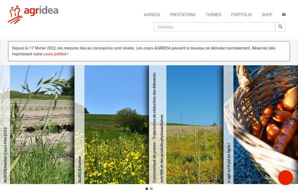 Vorschau von www.agridea.ch, Agridea, Schweizerische Vereinigung für die Entwicklung der Landwirtschaft und des ländlichen Raums