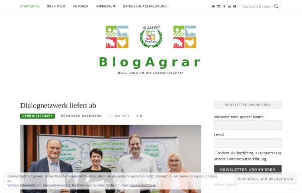 Vorschau von blogagrar.de, BlogAgrar