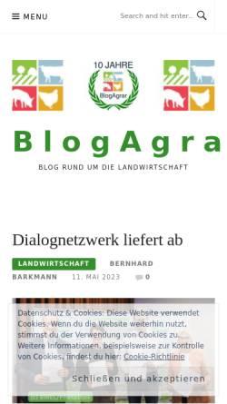 Vorschau der mobilen Webseite blogagrar.de, BlogAgrar