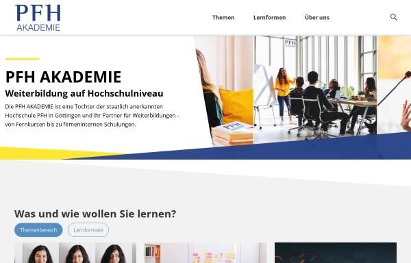 Vorschau von www.pfhps.de, PFH Professional School of Management, Innovation & Technology GmbH