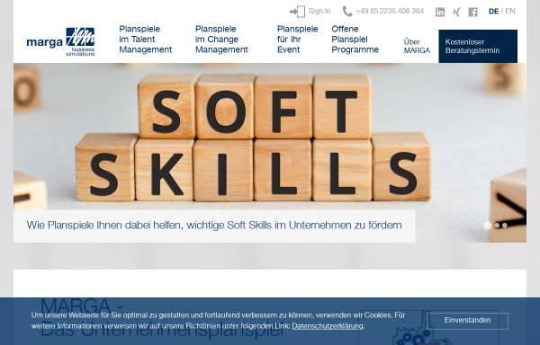 Vorschau von www.marga.de, MARGA Business Simulations GmbH