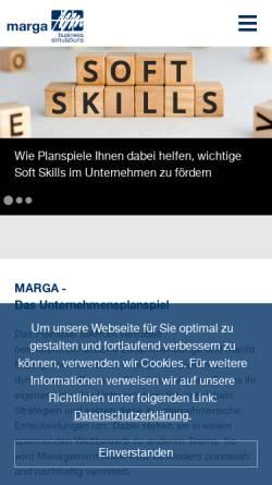 Vorschau der mobilen Webseite www.marga.de, MARGA Business Simulations GmbH