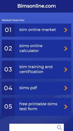 Vorschau der mobilen Webseite www.bimsonline.com, BIMS, Bayer International Management Simulation - Bayer Business Services