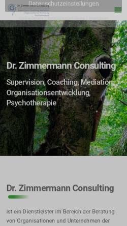 Vorschau der mobilen Webseite www.dr-zimmermann-consulting.de, Dr. Zimmermann Consulting