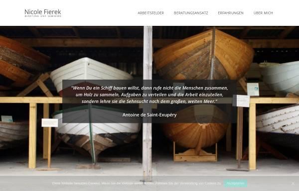 Vorschau von www.nicole-fierek.de, Nicole Fierek - Büro für Organisationsberatung