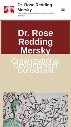 Vorschau der mobilen Webseite www.rrm-beratung.de, Rose Redding Mersky Organisationsentwicklungsberaterin und Coaching