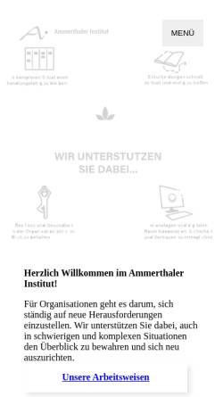Vorschau der mobilen Webseite www.ammerthaler-institut.de, Ammerthaler Institut - Christine Lehner und Sabine Weihe