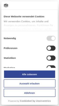 Vorschau der mobilen Webseite www.cursor.de, Cursor Software AG
