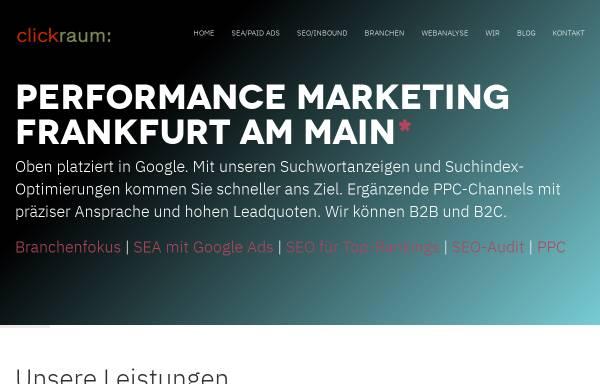 Vorschau von www.clickraum.de, Clickraum GmbH