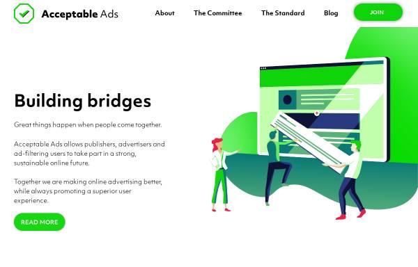Vorschau von acceptableads.org, Acceptable Ads Manifesto