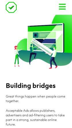 Vorschau der mobilen Webseite acceptableads.org, Acceptable Ads Manifesto