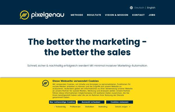 Vorschau von www.pixelgenau.com, Pixelgenau Consulting GmbH