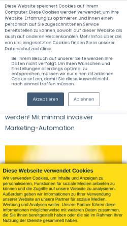 Vorschau der mobilen Webseite www.pixelgenau.com, Pixelgenau Consulting GmbH