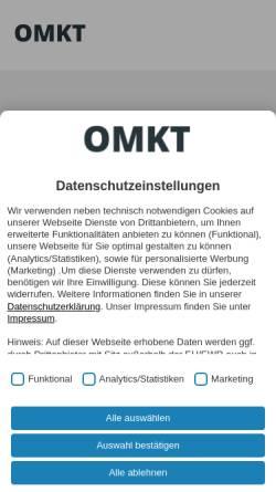 Vorschau der mobilen Webseite www.omkt.de, Online Marketing Magazin, Omkt.de