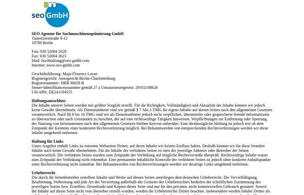 Vorschau von www.seo-gmbh.com, SEO Agentur für Suchmaschinenoptimierung GmbH