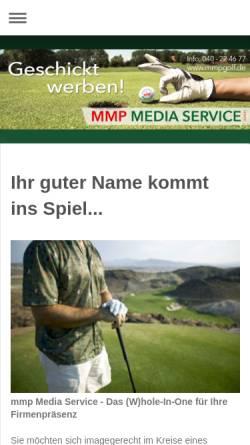 Vorschau der mobilen Webseite www.mmp-media-service.de, MMP Media Service GmbH