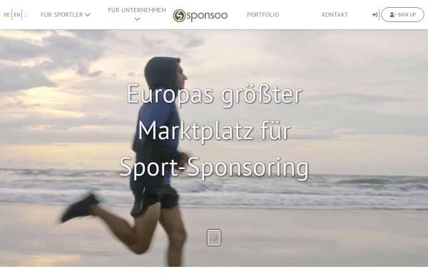 Vorschau von www.sponsoo.de, Sponsoo - Sport-Sponsoring-Marktplatz