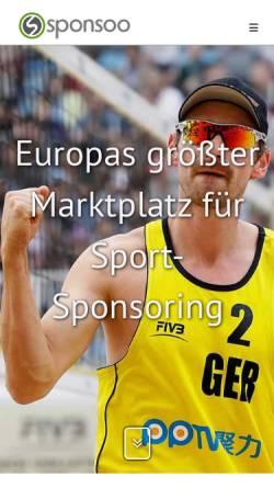 Vorschau der mobilen Webseite www.sponsoo.de, Sponsoo - Sport-Sponsoring-Marktplatz
