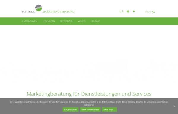 Vorschau von marketingberatung.de, Scheuer Marketingberatung GmbH & Co. KG