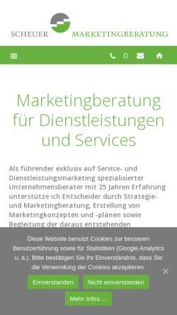 Vorschau der mobilen Webseite marketingberatung.de, Scheuer Marketingberatung GmbH & Co. KG