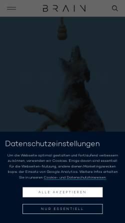 Vorschau der mobilen Webseite www.brain-beratung.de, Brain Gesellschaft für Marketing & Media mbH