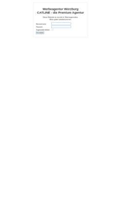 Vorschau der mobilen Webseite www.catline.de, Catline print und web