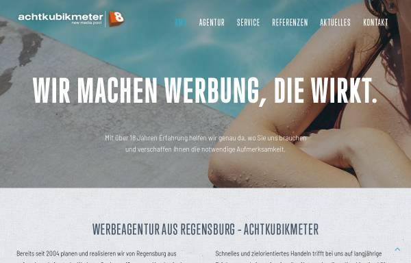 Vorschau von www.8m3.de, achtkubikmeter Werbeagentur Regensburg