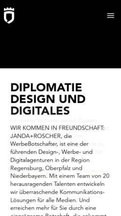 Vorschau der mobilen Webseite www.janda-roscher.de, Janda+Roscher GmbH & Co. KG