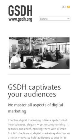 Vorschau der mobilen Webseite www.gsdh.org, gsdh Kreativagentur