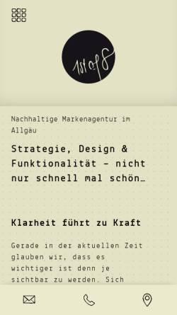 Vorschau der mobilen Webseite www.1stof8.com, 1st of 8 gestaltung & kommunikation - Joachim Weiler