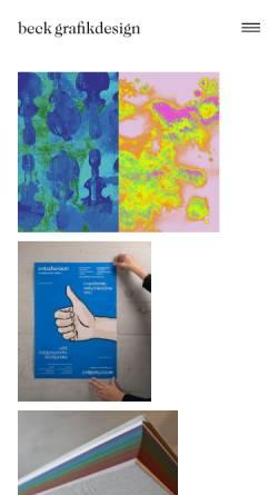 Vorschau der mobilen Webseite www.beck-grafikdesign.li, Beck grafik design est.