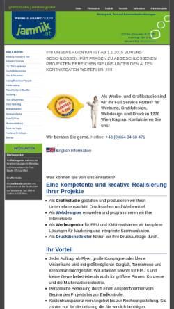 Vorschau der mobilen Webseite www.jamnik.at, Jamnik Grafik Design