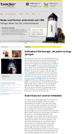 Vorschau der mobilen Webseite www.bader-partner.at, Bader & Partner GmbH