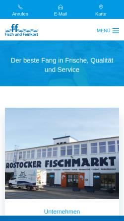 Vorschau der mobilen Webseite www.fisch-und-feinkost.de, F&F Fisch und Feinkost Handelsgesellschaft mbH