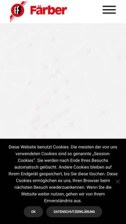 Vorschau der mobilen Webseite www.faerber.de, Emil Färber GmbH & Co. KG