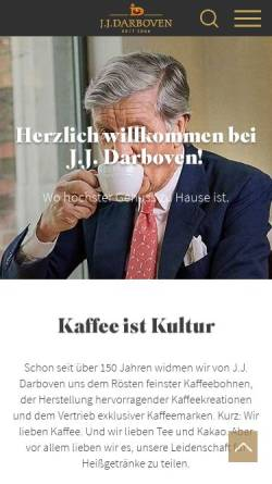 Vorschau der mobilen Webseite www.darboven.com, J.J. Darboven GmbH & Co. KG