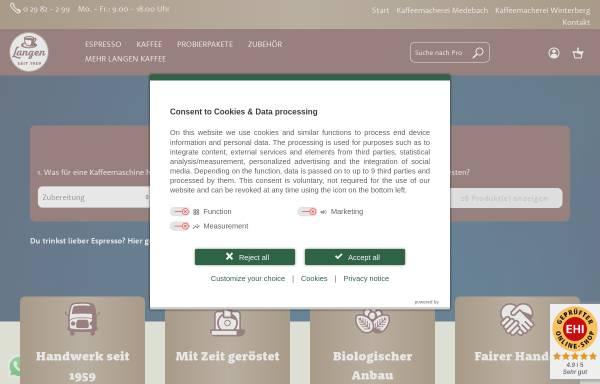 Vorschau von www.langen-kaffee.de, Langen Kaffee GmbH & Co KG
