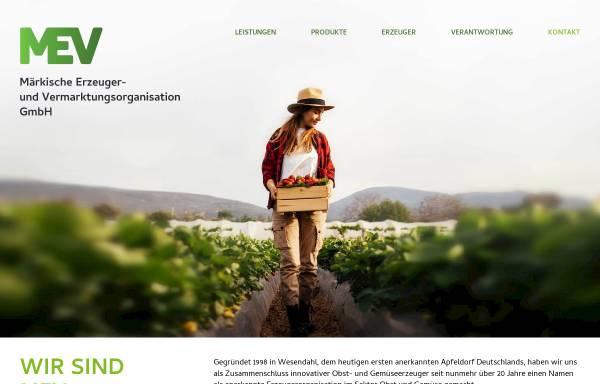 Vorschau von www.mev-wesendahl.de, MEV Märkische Erzeuger- und Vermarktungsorganisation GmbH