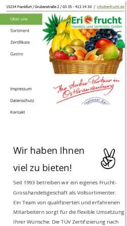Vorschau der mobilen Webseite www.erifrucht.de, Erifrucht Handels und Vertriebs GmbH