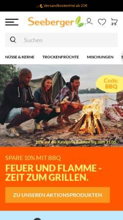 Vorschau der mobilen Webseite www.seeberger.de, Seeberger KG