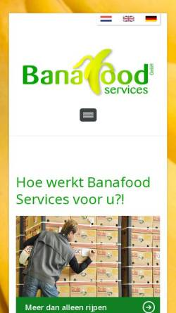 Vorschau der mobilen Webseite www.banafood.eu, Banafood Services GmbH