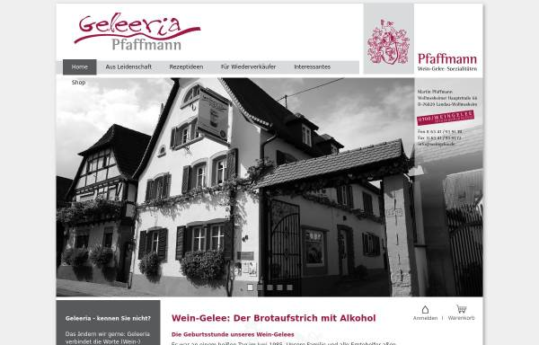 Vorschau von www.weingelee.de, Martin Pfaffmann Wein-Gelee ⋅ Spezialitäten