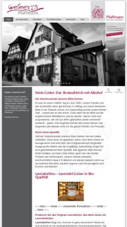 Vorschau der mobilen Webseite www.weingelee.de, Martin Pfaffmann Wein-Gelee ⋅ Spezialitäten