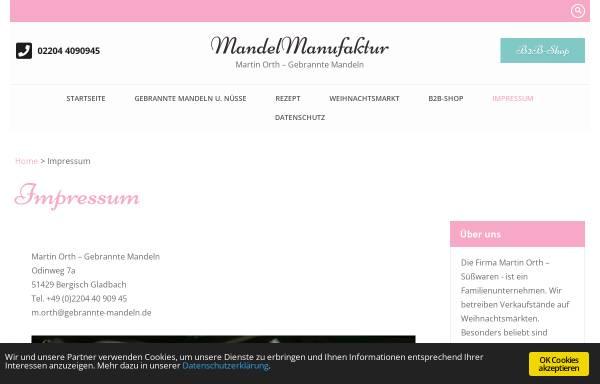 Vorschau von www.gebrannte-mandeln.de, Orth und Pilatzki GbR
