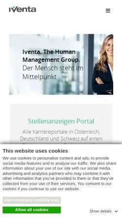 Vorschau der mobilen Webseite www.iventa.eu, Iventa