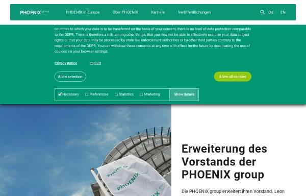 Vorschau von www.phoenixgroup.eu, Phoenix Pharmahandel GmbH & Co KG
