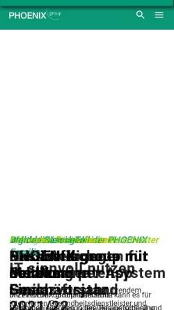 Vorschau der mobilen Webseite www.phoenixgroup.eu, Phoenix Pharmahandel GmbH & Co KG